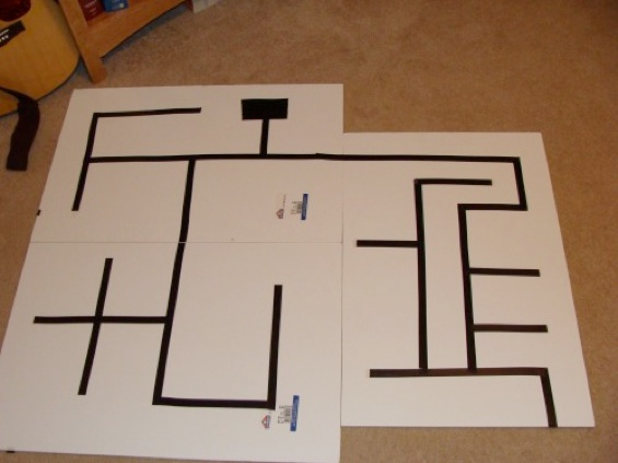 Maze solving robot v
